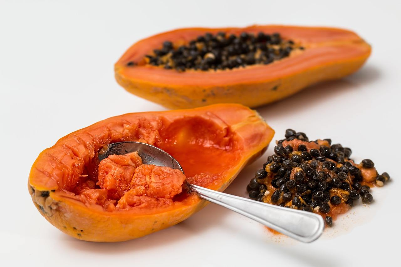 ripened papaya